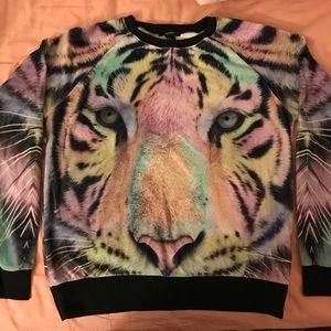 Colorful Tiger Sweatshirt